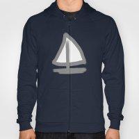 Sailboat, Dots And Strip… Hoody