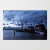 Blue Hour At Harbour Canvas Print