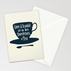 Love & Scandal are the Best Sweeteners of Tea Stationery Cards