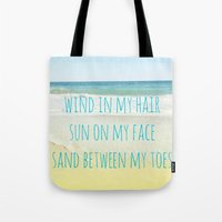 Wind In My Hair Tote Bag