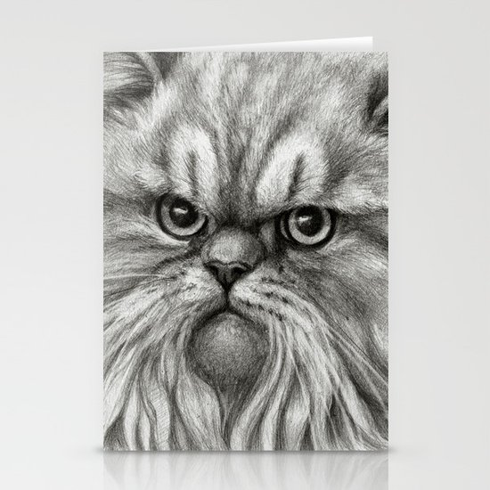 Persian Cat SK072 Stationery Card