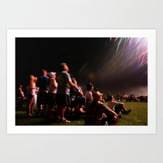 Ooohs and Awws at Fireworks Art Print