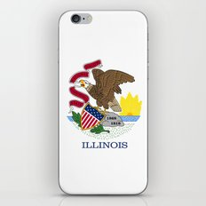 State flag of Illinois - Authentic color and scale iPhone & iPod Skin