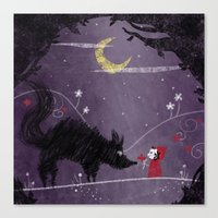 Little Red and Wolf Canvas Print