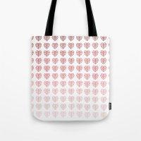 Heart Gradient Tote Bag