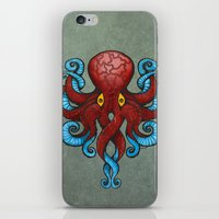 Red Dectopus iPhone & iPod Skin