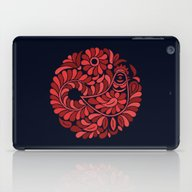 iPad Case featuring Folk Rooster by Slovensky