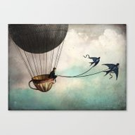 Around The World In A Te… Canvas Print