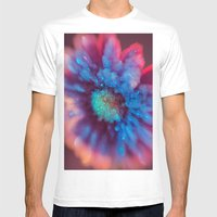 Crystalized Daisy Mens Fitted Tee White SMALL