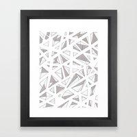Refracted Diamond Framed Art Print