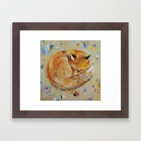 Sleeping Fox Framed Art Print