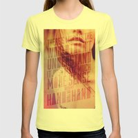 Hand in my Hand Womens Fitted Tee Lemon SMALL