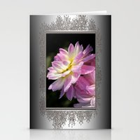 Frosted Dahlia Named San… Stationery Cards