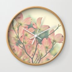 Vintage Dogwoods Wall Clock