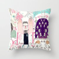 Cafe Stay in  Throw Pillow