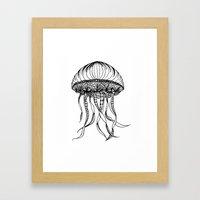 Jellyfish Octopus Creature Imaginitive  Framed Art Print