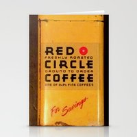 Red Circle Coffee Stationery Cards