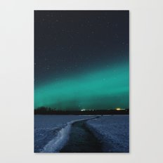 Northern Lights In The G… Canvas Print