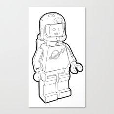 Vintage Lego Spaceman Wireframe Minifig Canvas Print