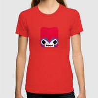 Marshmallow Lehnsherr Womens Fitted Tee Red SMALL