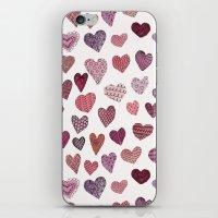 Artsy Hearts iPhone & iPod Skin