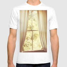 Was It A Dream White Mens Fitted Tee SMALL