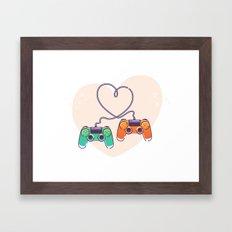 Play Love Framed Art Print
