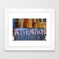 'Attention' Framed Art Print