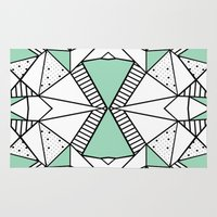 Ab Lines and Spots Mint Rug