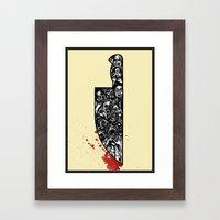 foul deeds Framed Art Print