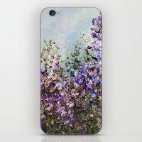 Floral Garden Impressionism in Pretty Purple iPhone & iPod Skin