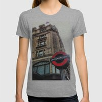 Harrods, London Womens Fitted Tee Athletic Grey SMALL