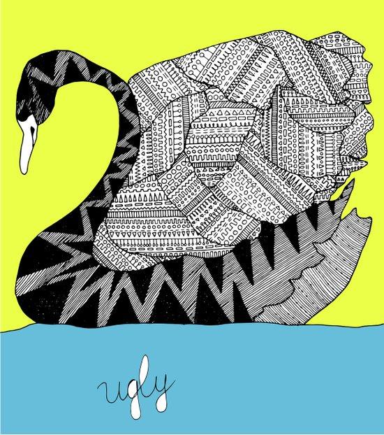 Ugly Swan Art Print