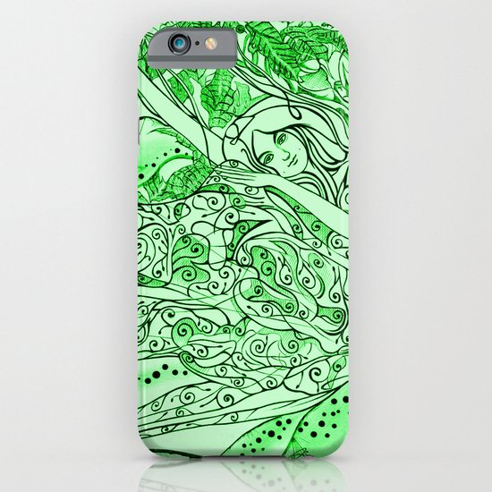 Secret Garden / Original A4 Illustration / Pen & Ink iPhone & iPod Case
