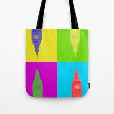 Retro London Pillow Tote Bag