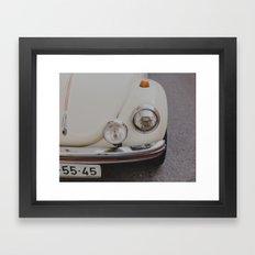 Cream White Summer Framed Art Print