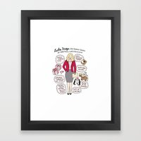 Queen Leslie Knope Framed Art Print