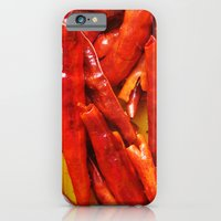 iPhone & iPod Case featuring Chili peppers by Mendelsign