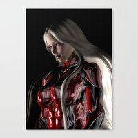 Sci-Fi Suit Portrait Canvas Print