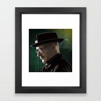 Breaking Bad Illustrated - Walter White Framed Art Print