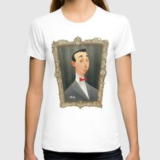 Pee Wee Herman Womens Fitted Tee White SMALL