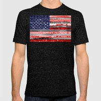 My America Mens Fitted Tee Tri-Black SMALL