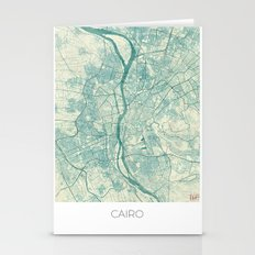 Cairo Map Blue Vintage Stationery Cards