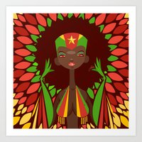 FIFA 2014 Samba Girls Series: Cameroon Art Print