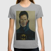 The Caped Crusader Womens Fitted Tee Athletic Grey SMALL