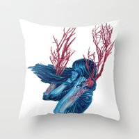 Her Arms Became Trees Throw Pillow