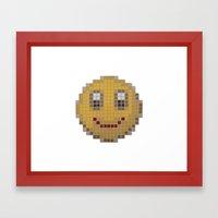 Emoticon Smile Framed Art Print
