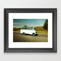 Mercedes Bus Oltimer O 3… Framed Art Print