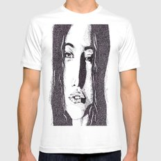 ??? Girl White SMALL Mens Fitted Tee