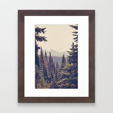 Mountains Through The Tr… Framed Art Print
